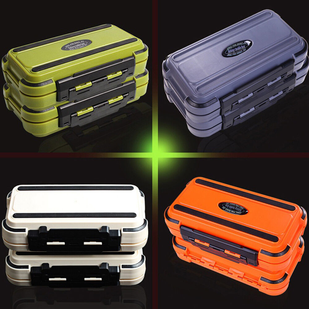 HK- 24 Compartment 2 Layer Waterproof Fishing Lure Bait Tackle Storage Box Case