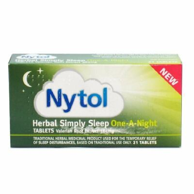 Nytol HERBAL One A Night Extract 385 mg 21 Tablets New