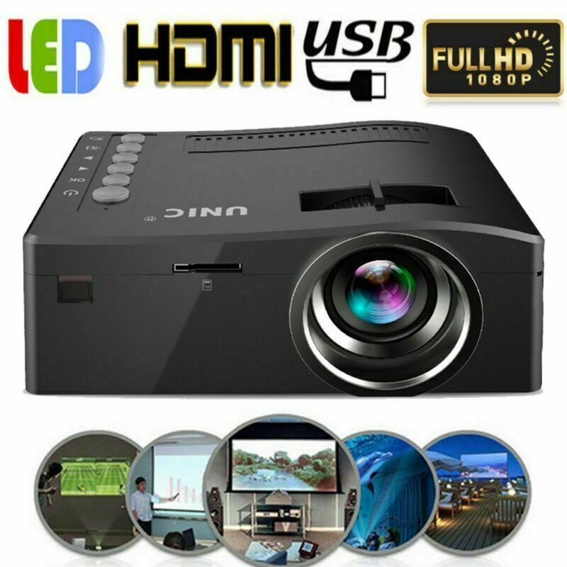 Full HD 1080P Proiettore LED Videoproiettore Multimedia Home Cinema USB HDMI