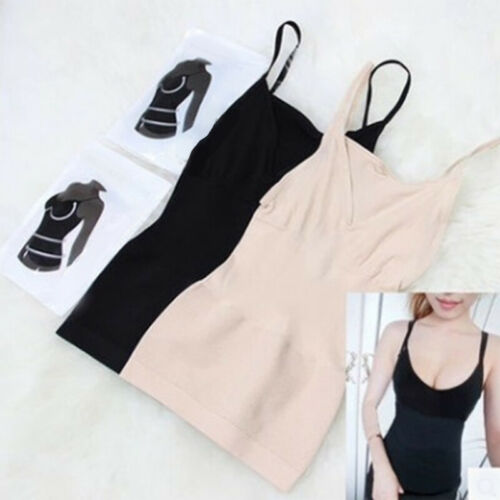Women Cami Tank Top Body Shaper Slimming Tummy Control Seamless Shapewear Vest