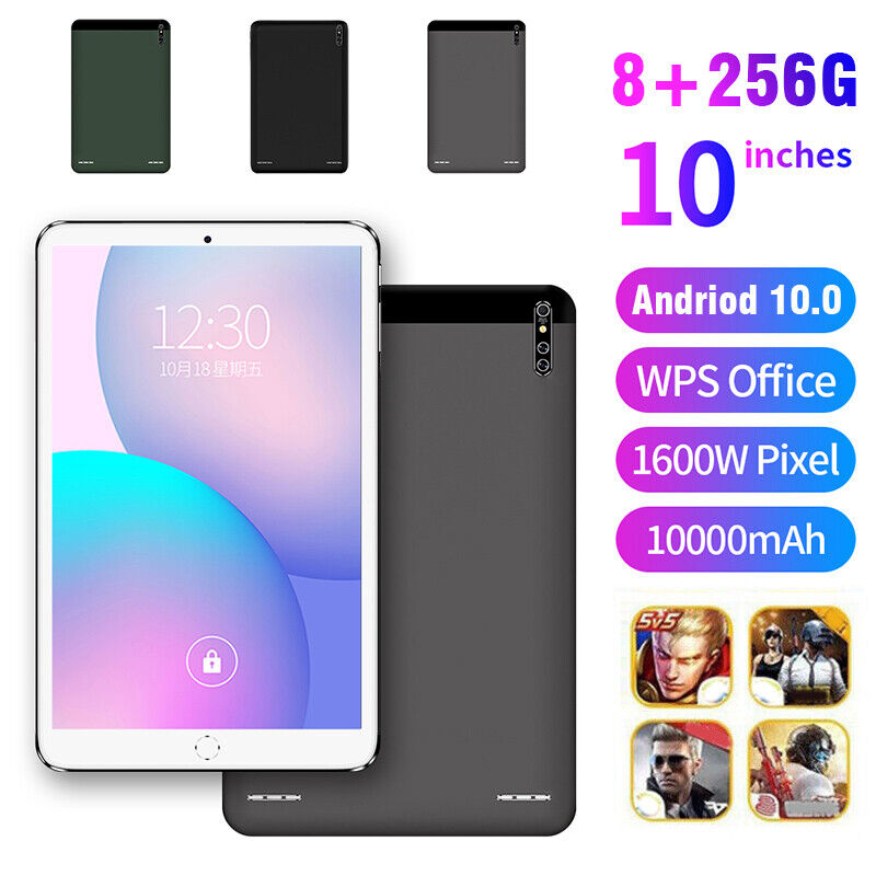 """4G 10 """" pollici 8GB+256GB Tablet PC Android 10 Octa Core WIFI 2 SIM"""