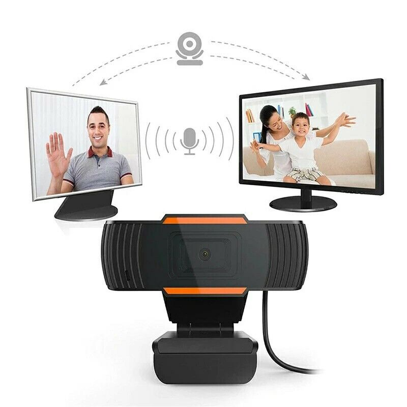 WEBCAM  CON MICROFONO INTEGRATO HD 1080P SMART WORKING SKYPE CAMERA PER PC AUDIO