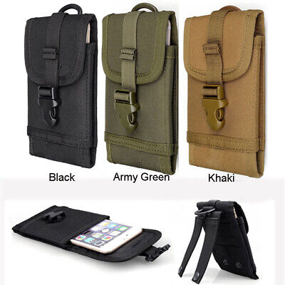 Outdoor Molle Army Tactical Mobile Cell Phone Pouch Holster Case Bag Holder Belt