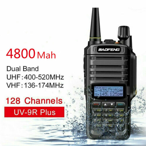 BaoFeng UV-9R Plus Walkie Talkie Dual Band Radio VHF / UHF bidirezionale 5W