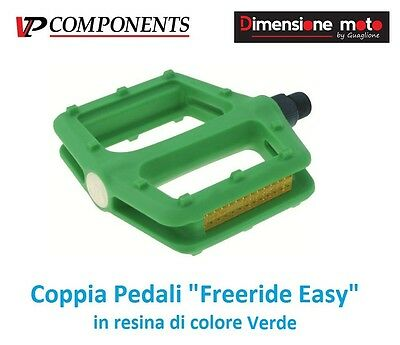 0656  CP Pedali VP-Comp. Freeride Easy Verde per Bici 20-24-26 MTB Mountain Bike
