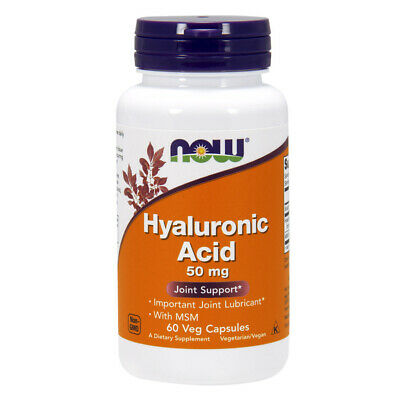 NOW Foods acido ialuronico con MSM  50 mg - 60 capsule