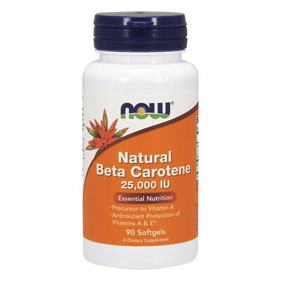 NOW FOODS Natural Beta Carotene, 25.000 iu 90 softgels - VITAMINE