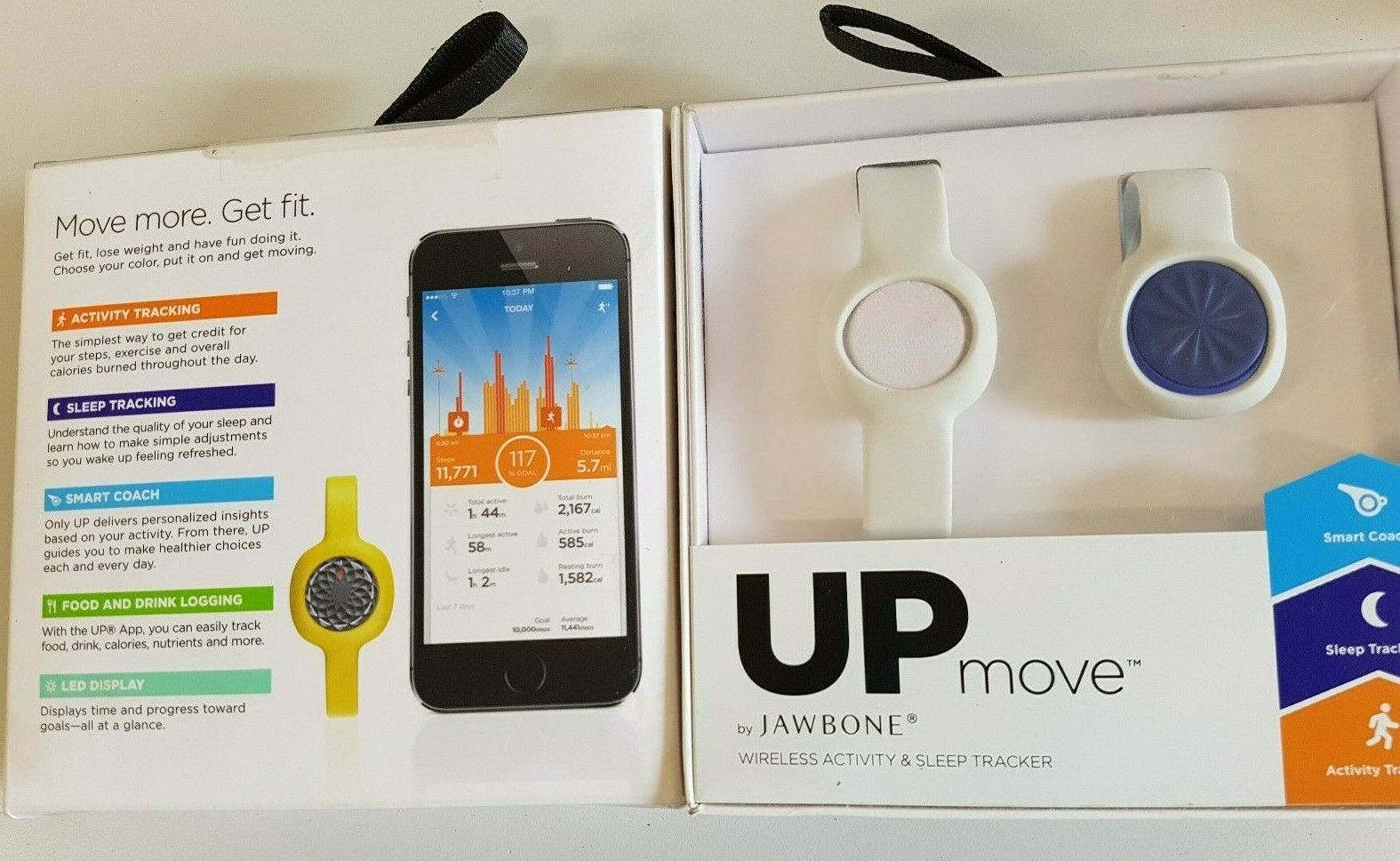 UP move - Wireless activity tracker - Sleeptracker Motion X Powered - neu
