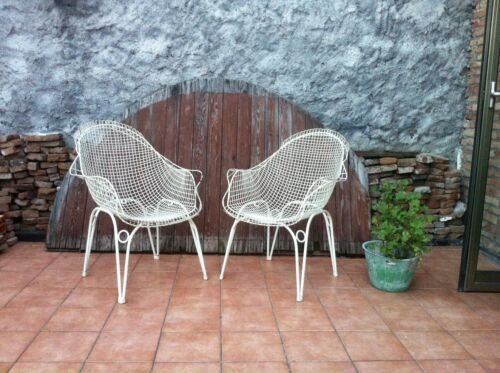 Pair Of Vintage Armchair Rare Design Outdoor Garden Mood Bertoia Eames