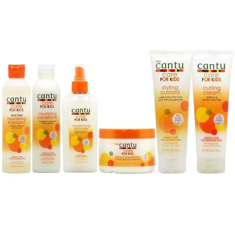 Cantu Shea Butter Hair Care FOR KIDS Curling Cream Styling Custard Conditioner