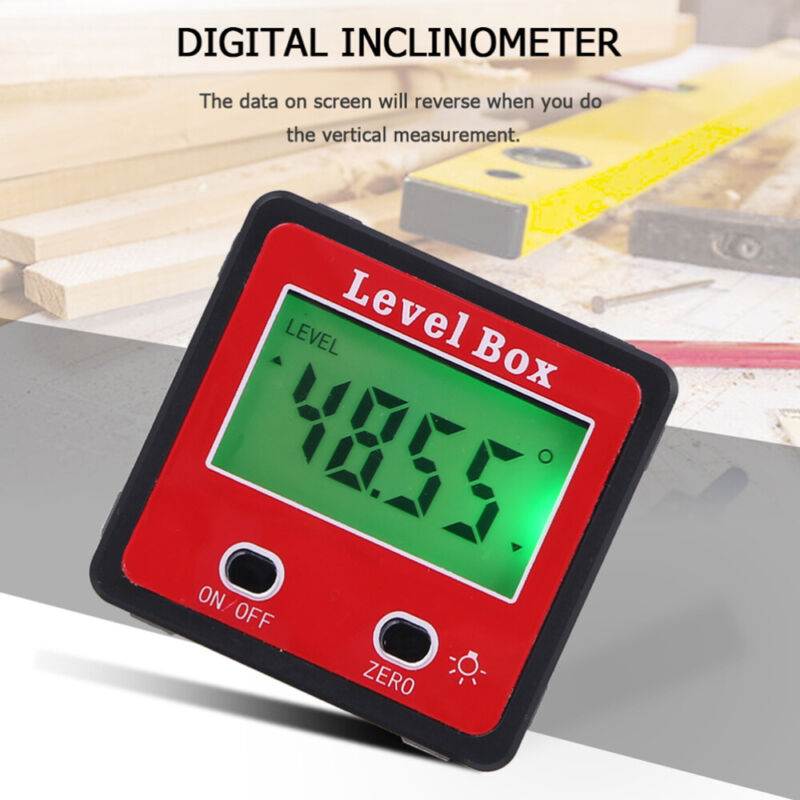 Angle Finder Livello Digitale Base Magnetica LCD Goniometro Inclinometro