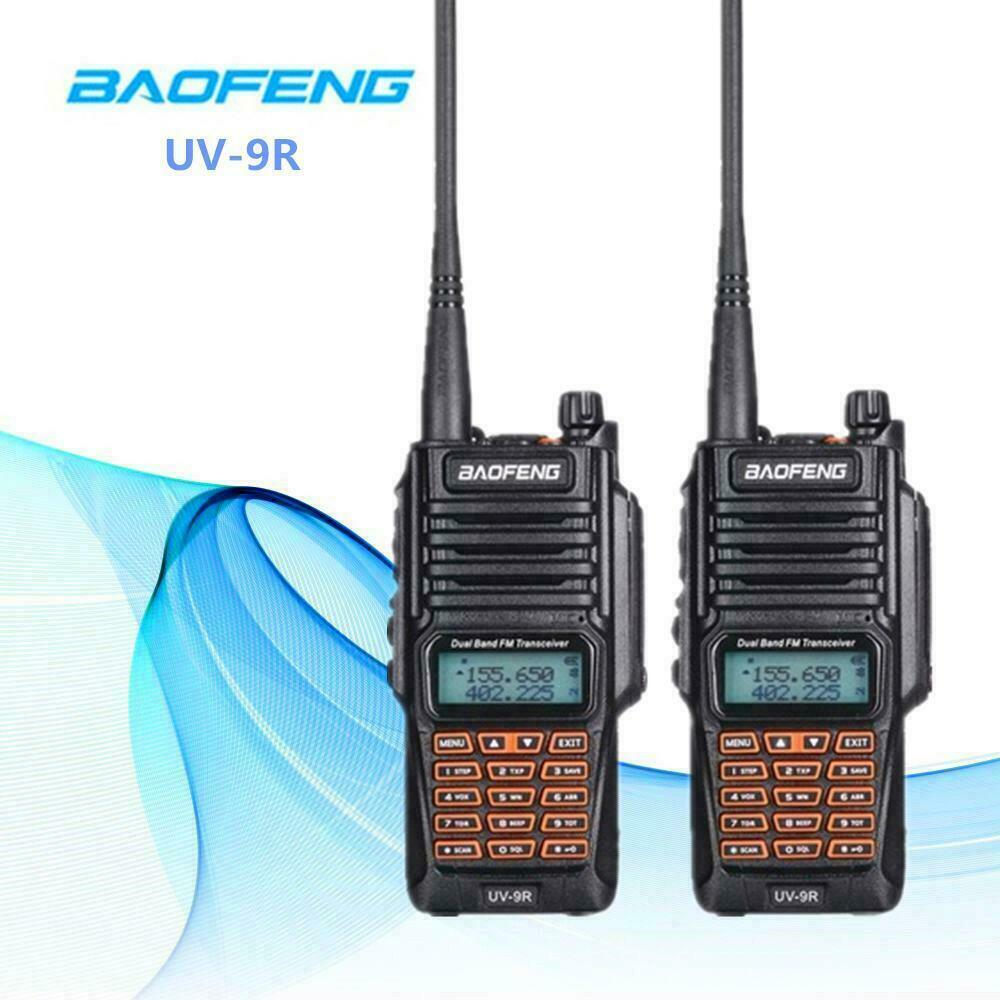 BAOFENG UV-9R WALKIE TALKIE 10W UHF VHF IP67 RADIO INTERFONO RICETRASMITTENTE