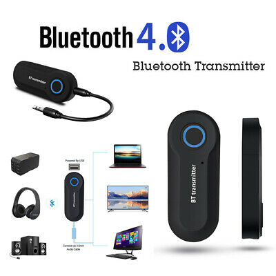 Adattatore Audio Wireless Bluetooth Trasmettitore 3.5mm Per TV DVD PC MP3 W3V4