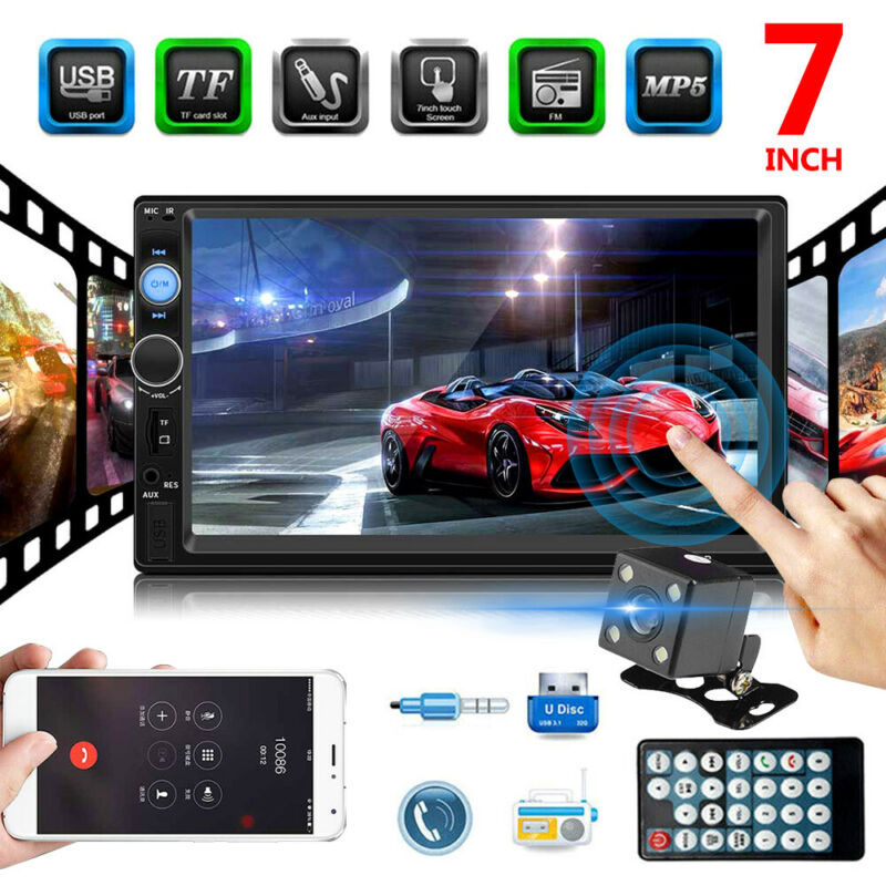 7'' AUTORADIO MP5 CORE ANDROID  IOS WIFI BLUETOOTH  2 DIN STEREO + RETROCAMERA