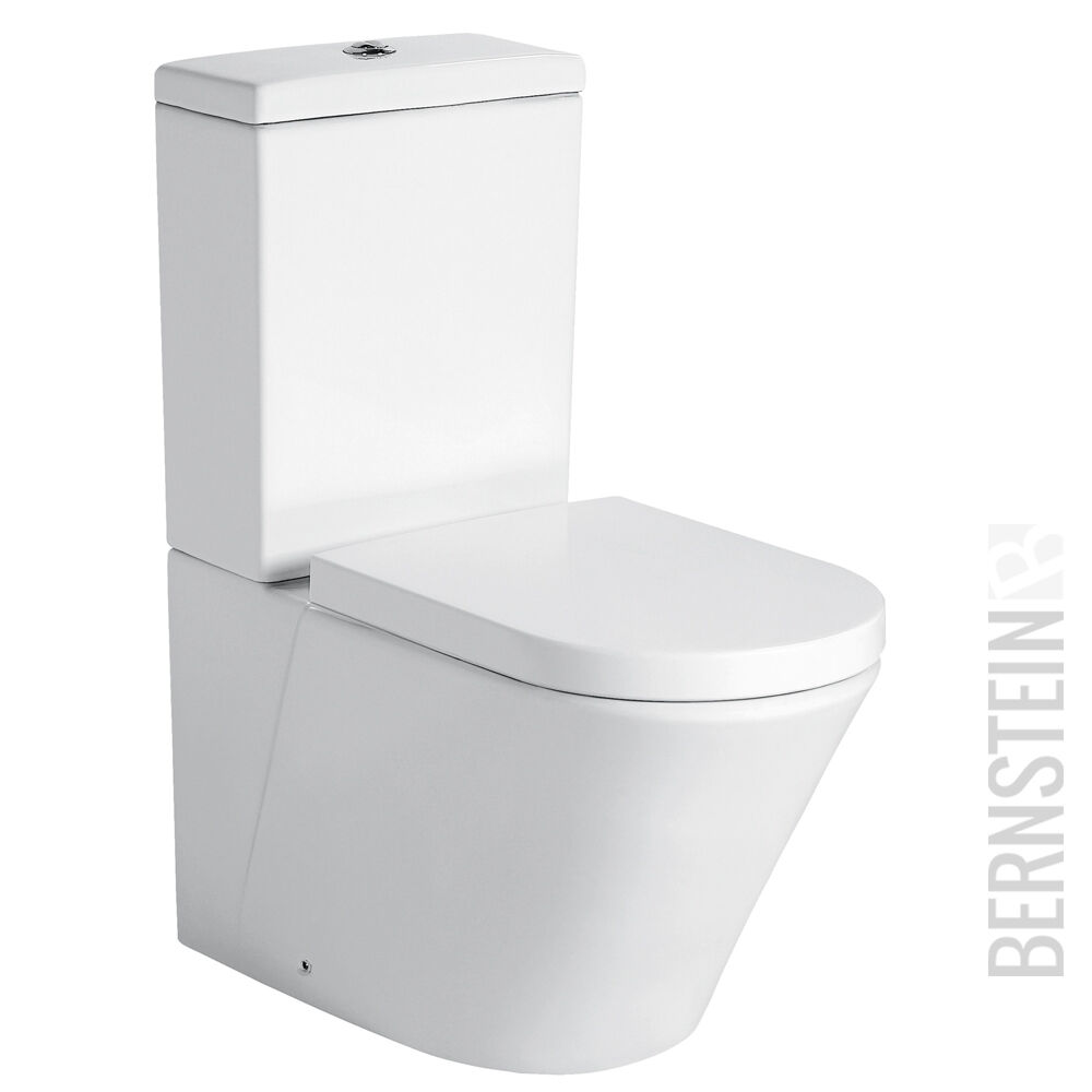Bernstein Supporto Wc Con Cisterna Toilette CT1088 Soft Close Coperchio