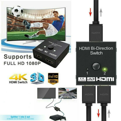 Interruttore HDMI 2 Port Switch Splitter Switcher 1080P HD 4K HDTV per PS4 XBOX