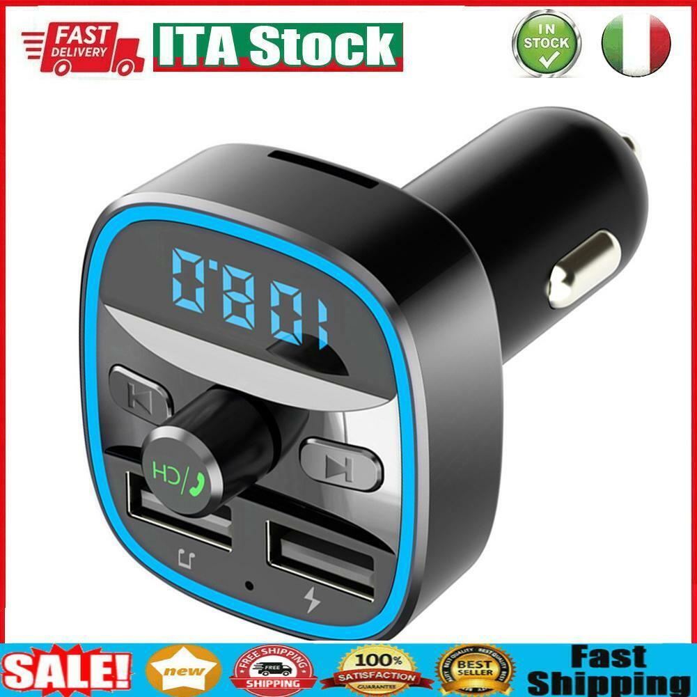 T25 Car Bluetooth 5.0 FM Transmitter MP3 Player Fast Charging USB Charger