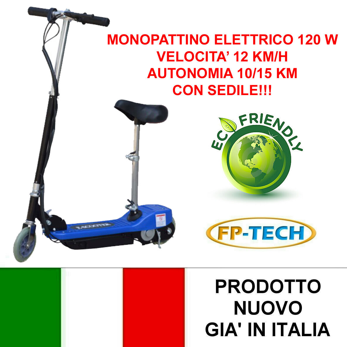 MONOPATTINO ELETTRICO 24 V 120W E-SCOOTER BICICLETTA ELETTRICA FULL OPTIONAL