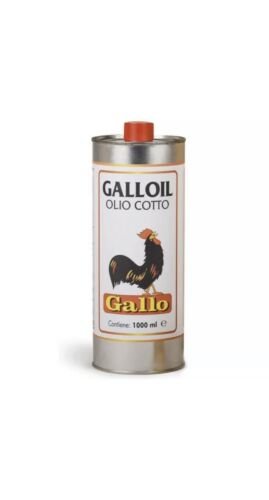 OLIO DI LINO COTTO GALLOIL GALLO IMPERMEABILIZZANTE LT.1 ANTIRUGGINI STUCCHI