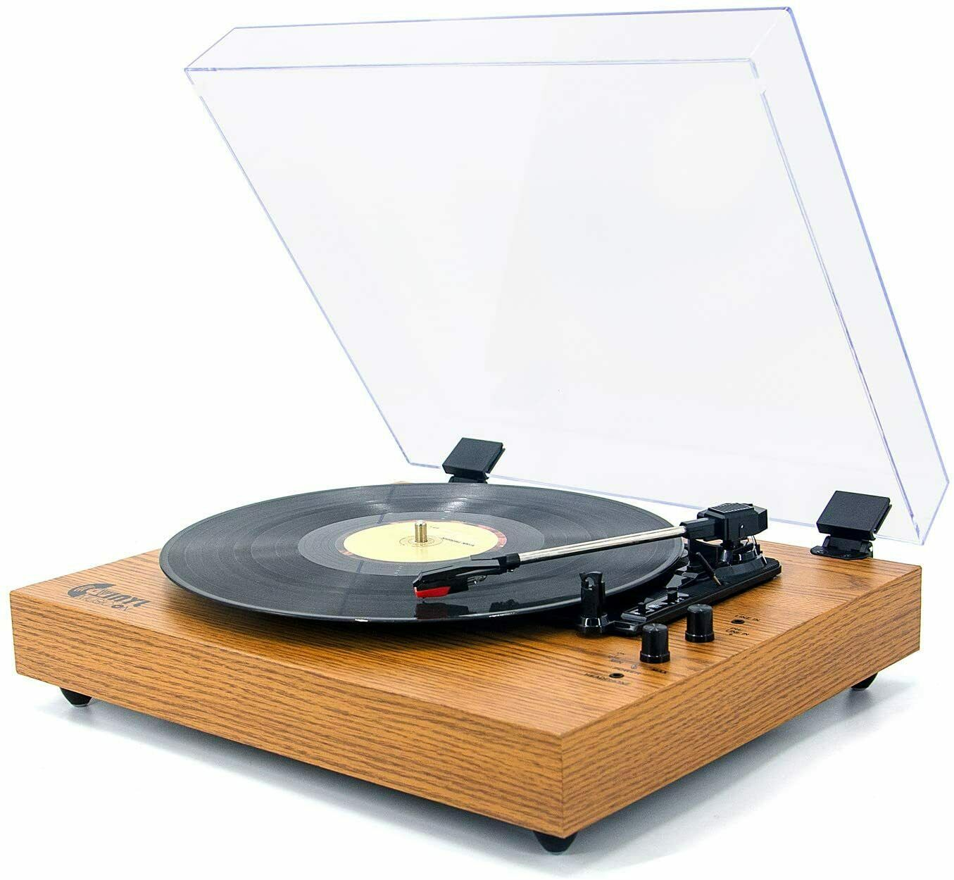 VINYL MUSIC  Retro Record Player for 33/45/78 RPM Bluetooth Belt-Drive Turntable