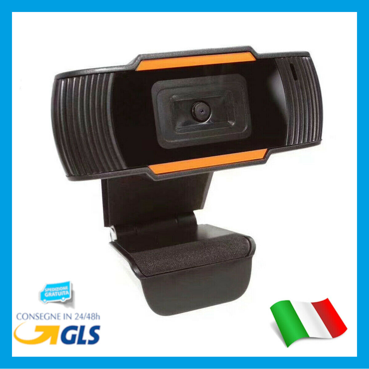 WEBCAM HD CON MICROFONO INTEGRATO SMART WORKING SKYPE VIDEO CAMERA PER PC