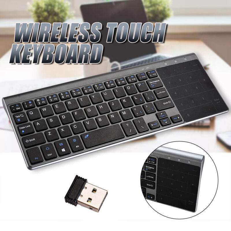 Tastiera touch wireless con mini touchpad per PC PC connessi Smart TV YR