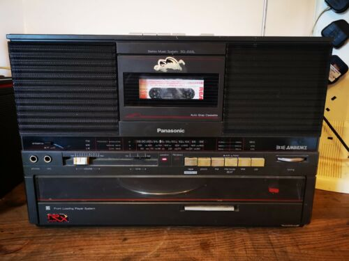 Panasonic retro music system SG-J555L boombox with record player 12v & mains