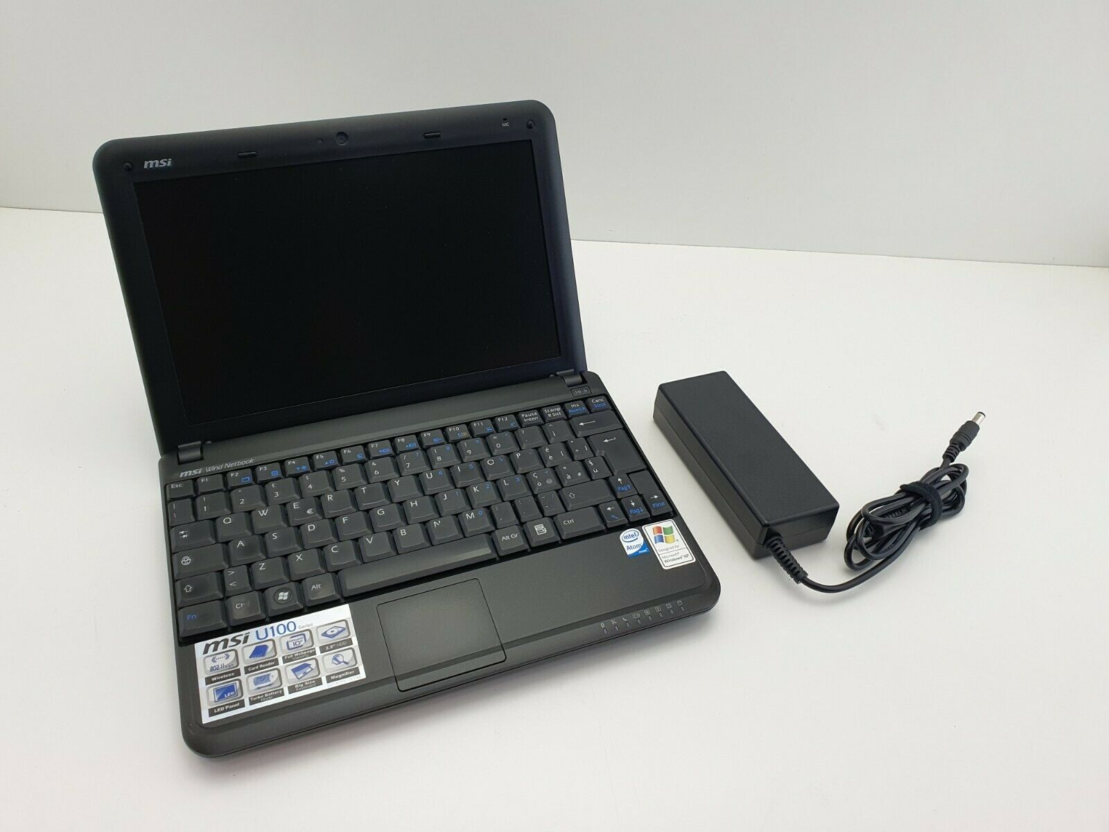 PC Netbook MSI U100 Atom 1.6 GHZ 2GB Ram - 160GB HD Webcam + microfono