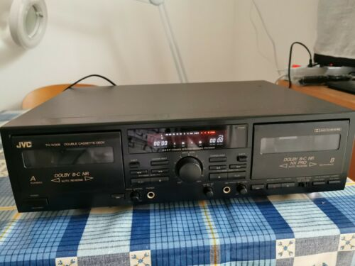 JVC Double Cassette Deck TD-W308 AUTOREVERSE Dolby BC high speed rec. SERVICED!!