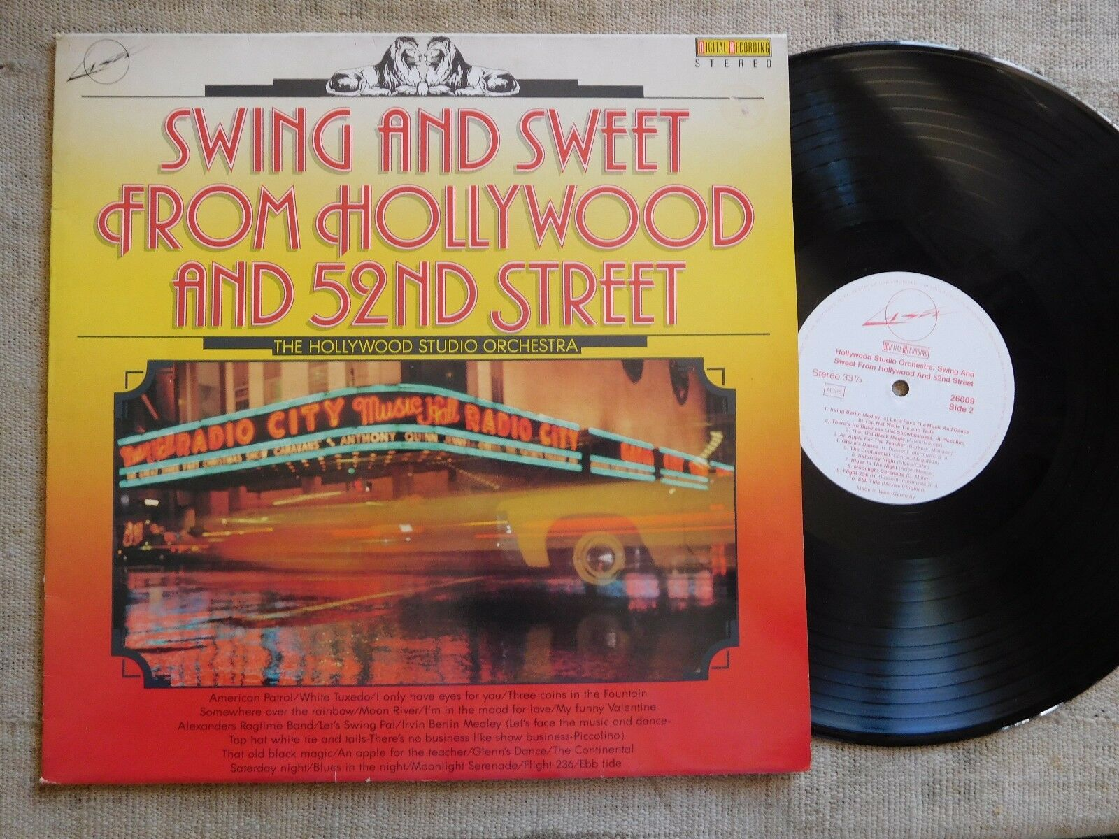 Hollywood Studio Orchestra – Swing And Sweet From Hollywood And 52nd S - LP