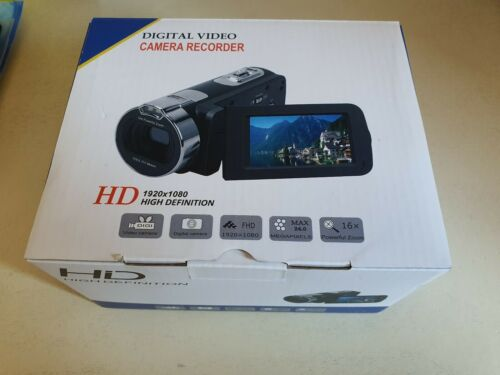 "MARVUE Videocamera Full HD 1080p Camcorder Webcam 24MP LCD Da 2,7"" Zoom Digitale"