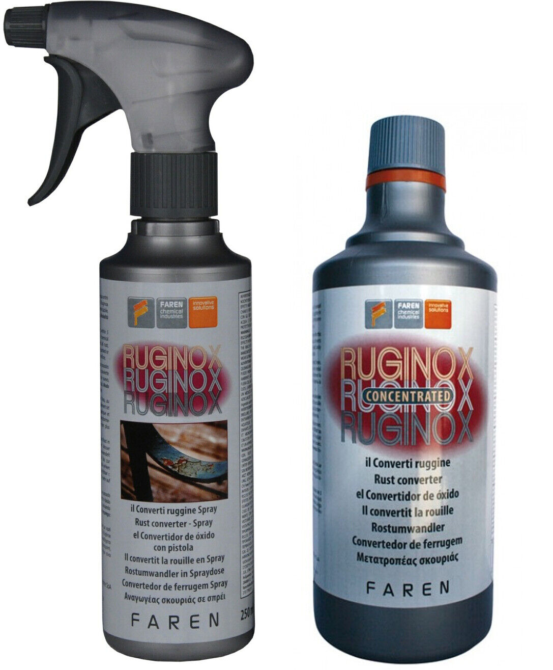 CONVERTITORE DI RUGGINE RUGINE ANTIRUGGINE CONVERTIRUGGINE FAREN RAPIDO SPRAY