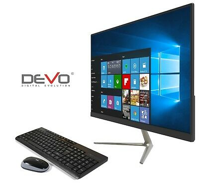 "PC ALL IN ONE DEVO TASTIERA E MOUSE WIRELESS 23.8"" INTEL N4000 4GB+32GB+SLOT HDD"