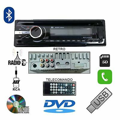 AUTORADIO 60Wx4 STEREO AUTO GT490 LETTORE CD DVD MP3 AUX USB SD VIVAVOCE BLUETOO