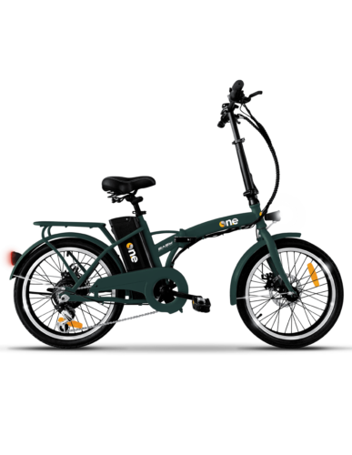 The One Bicicletta Elettrica E Bike Pieghevole 250 W 35 km Verde One