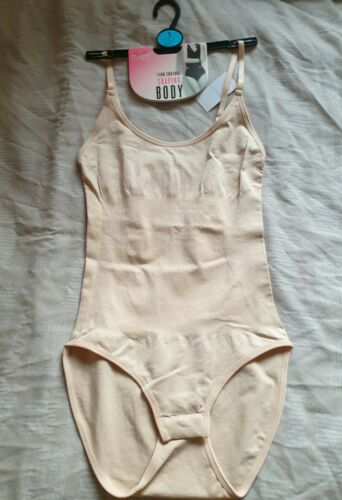 Primark Firm Control Shaping Body Bodysuit Shapewear - Nude - Small