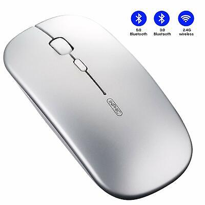 Mouse Bluetooth Inphic Slim Silent Click e mouse wireless ricaricabile per PC...