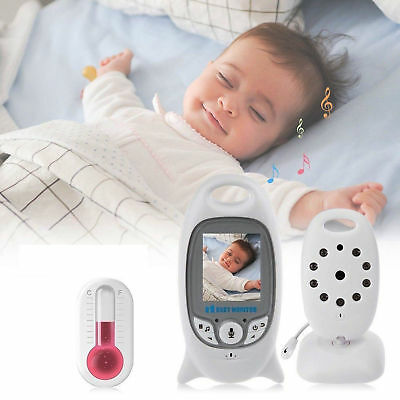 VIDEO BABY MONITOR AUDIO WIRELESS SENZA FILI COLORI LCD LED CONTROLLO NEONATO
