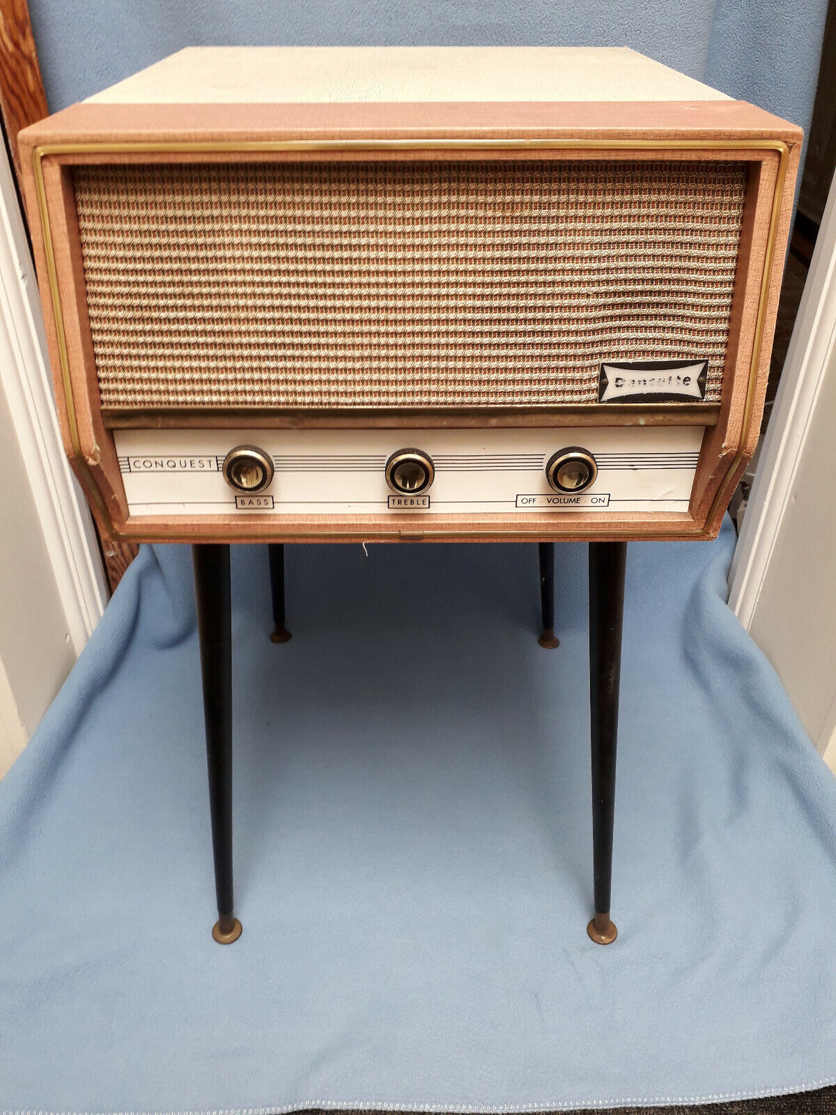 Vintage Retro Dansette Conquest Auto Record Player with Legs - Working.