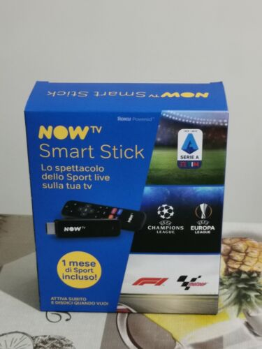 Chiavetta Now TV Smart Stick, NO TICKET, App NowTV, DAZN, Netflix, Spotify, ...