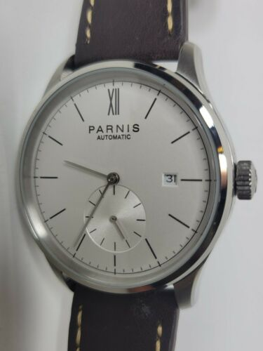 Parnis Automatic Watch Small Seconds 42mm Men's