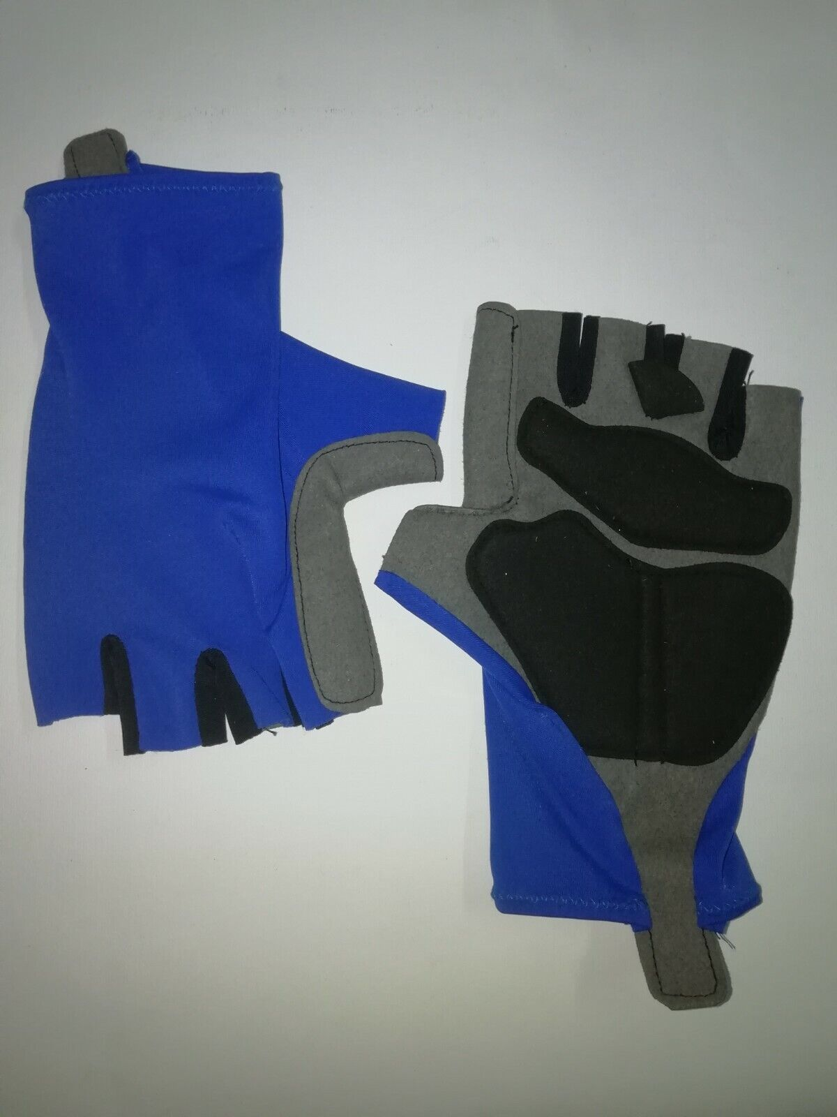 GUANTI CICLISMO BICICLETTA DA CORSA SPINNING BLU CYCLING GLOVES BLUE NEW L