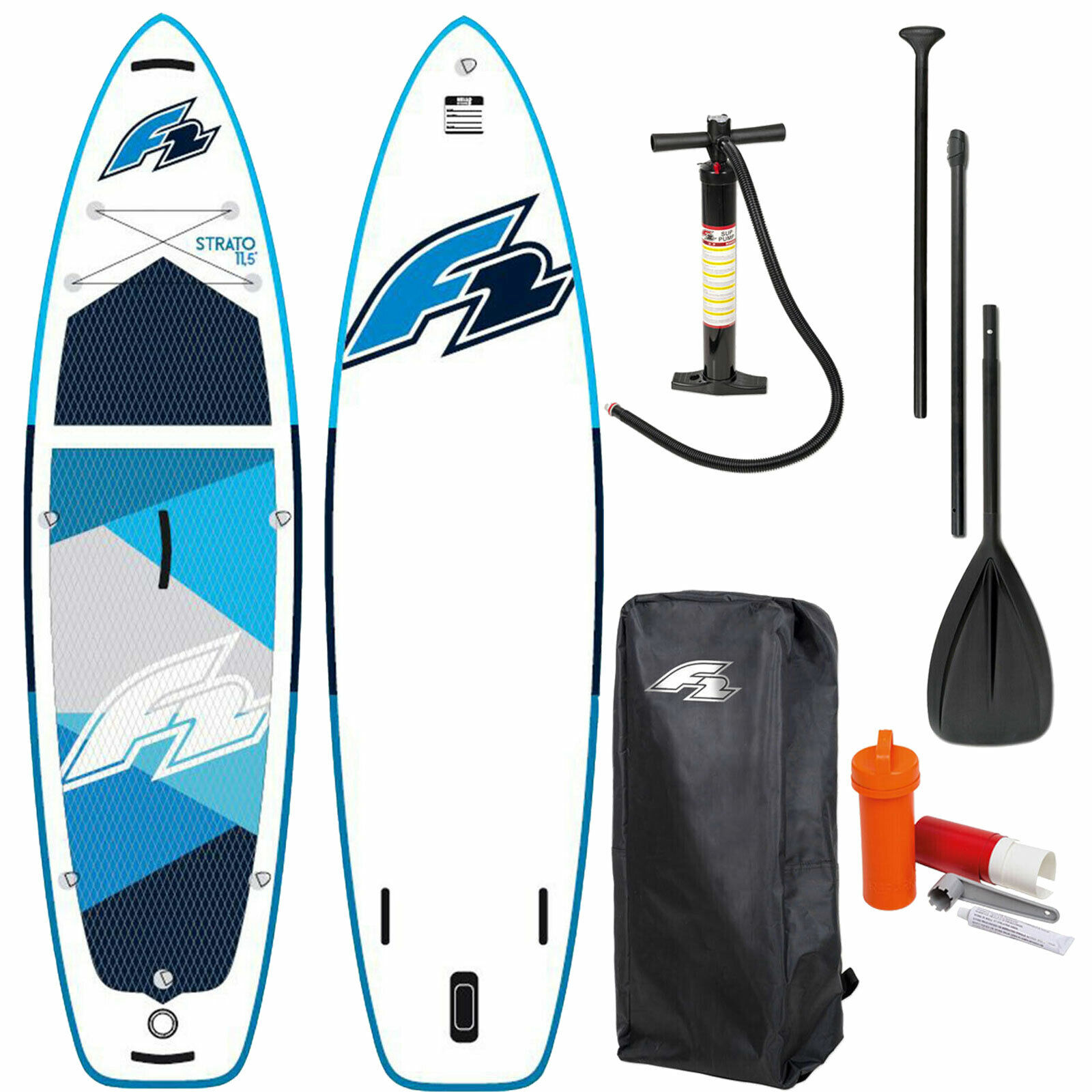 F2 Inflatable Strato SUP I-SUP Stand Up Paddle Paddelboard Paddleboard Board NEU