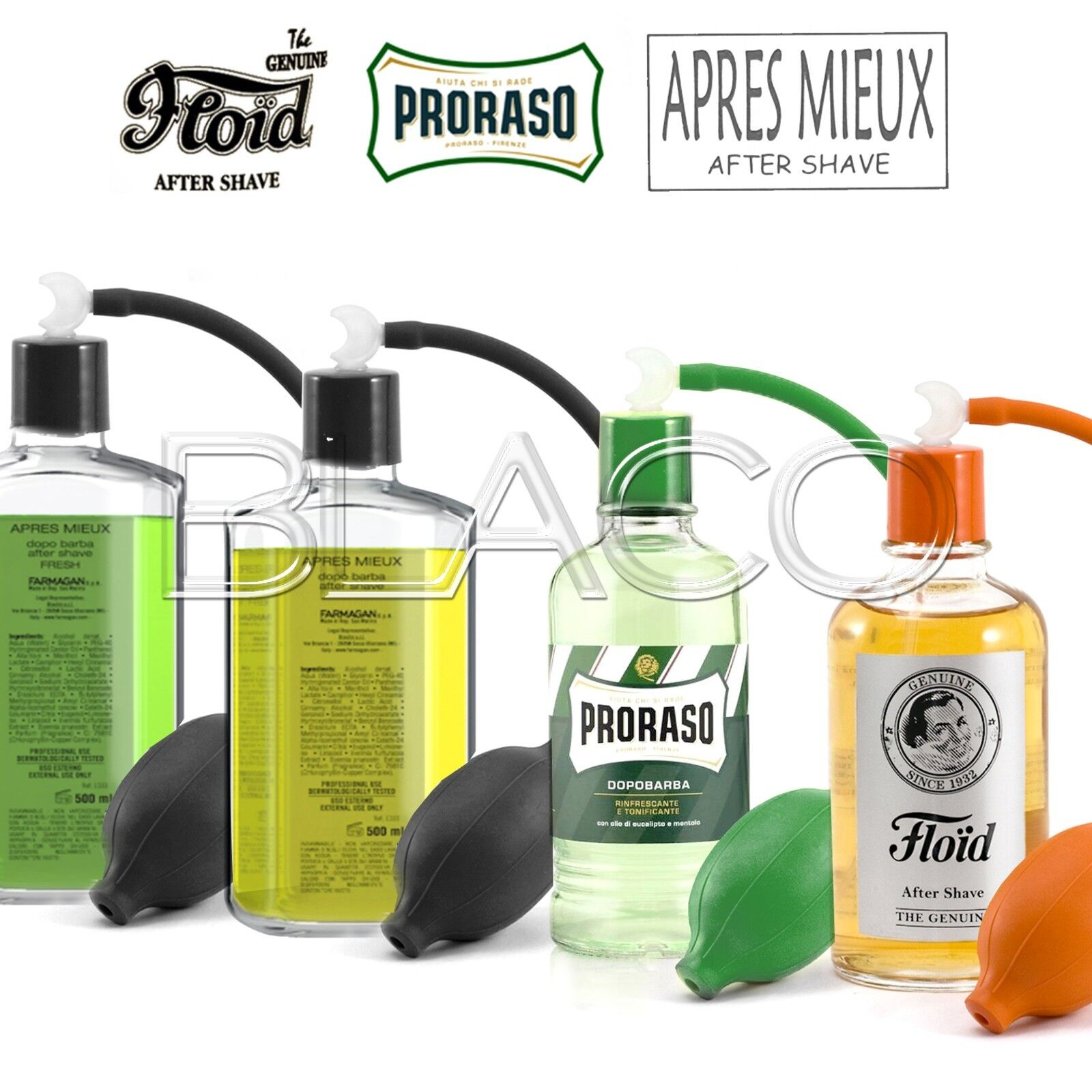 KIT DOPOBARBA PRORASO, FLOID, APRES MIEUX DA 400ML INCLUSO SPRUZZINO SET BARBA