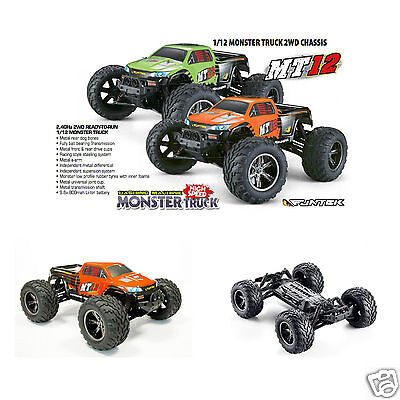 Auto RC Hobbytech Funtek MT12 Monster Truck scala 1/12 Metal RTR Rossa