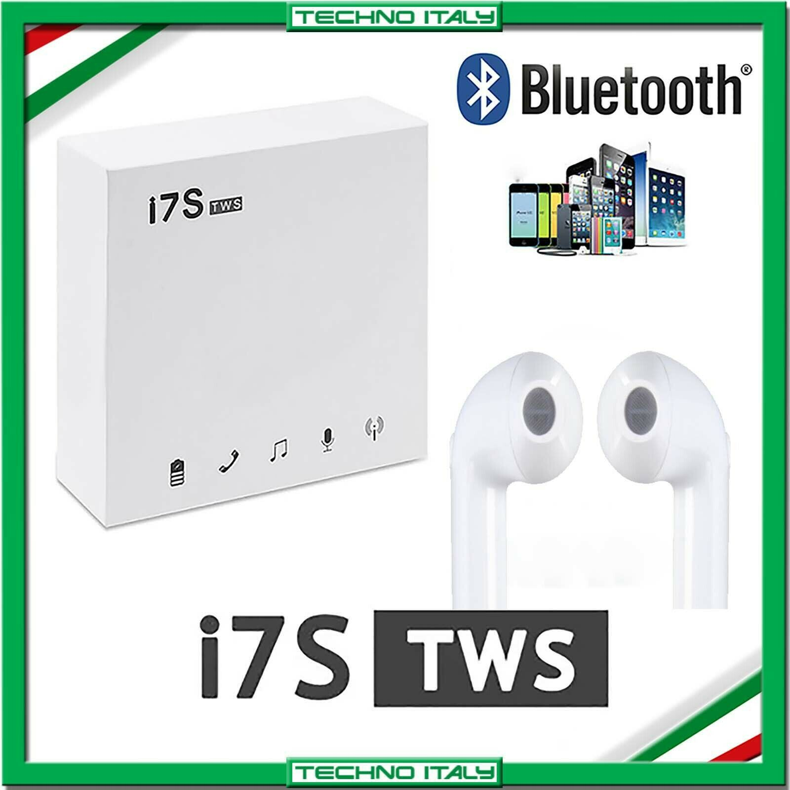 ✅ AURICOLARI CUFFIE BLUETOOTH 5.0 WIRELESS I7S TWS HUAWEI ANDROID SAMSUNG ✅