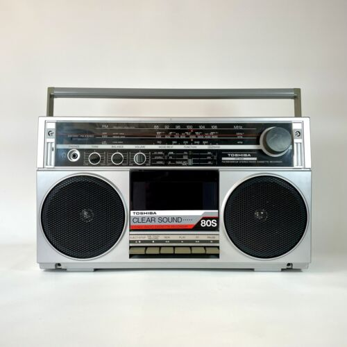 Vintage Toshiba RT 80S Ghetto Blaster Boombox Cassette Tape Player Fully Working