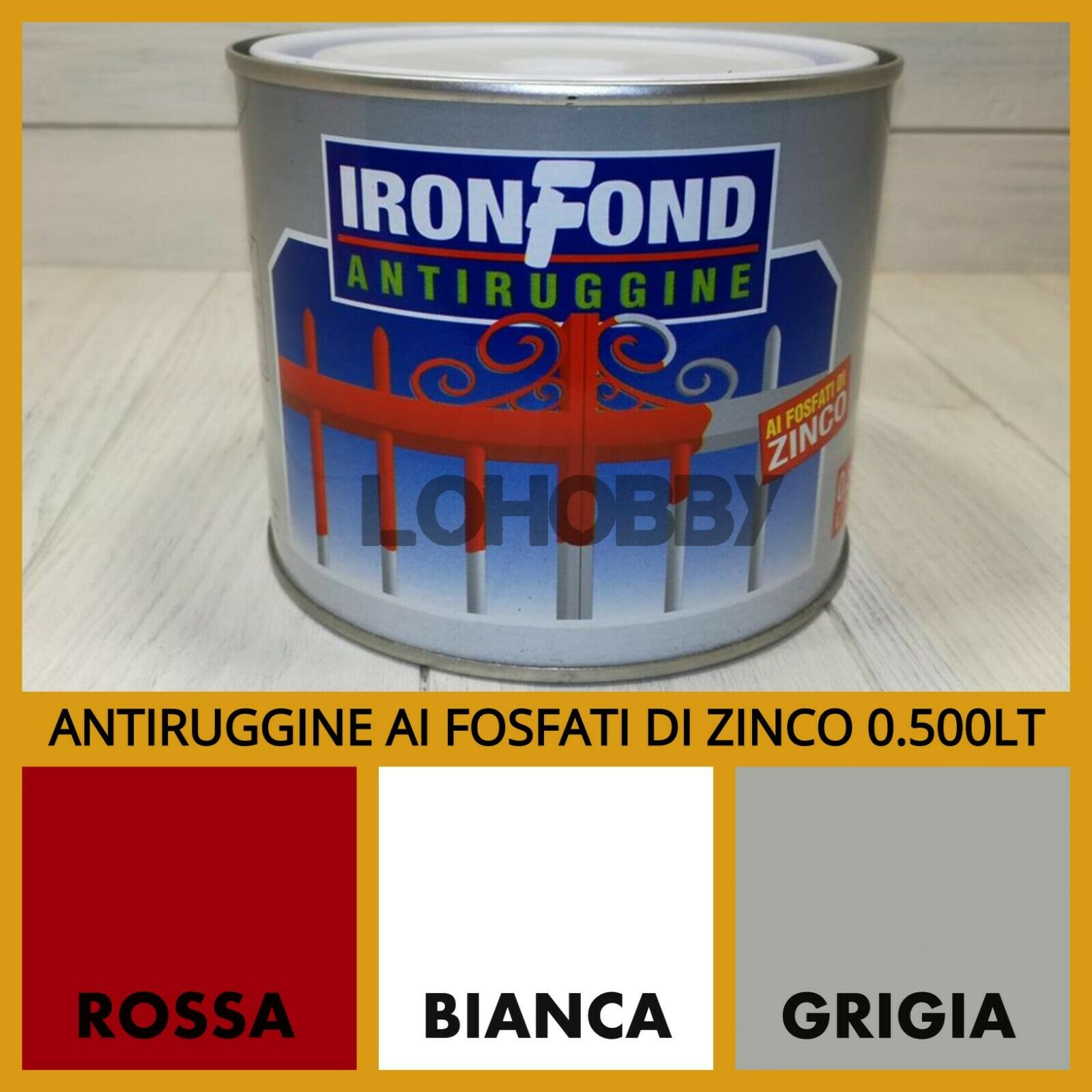 Smalto antiruggine per ferro vernice pittura anti ruggine bianca rossa grigia