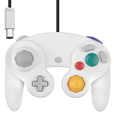WII/GC GAMECUBE CONTROLLER WITHE - BIANCO   PAD