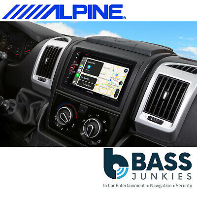Alpine INE-W611DC Camper Sat Nav Bluetooth DAB CD MP3 DVD Carplay Android Stereo